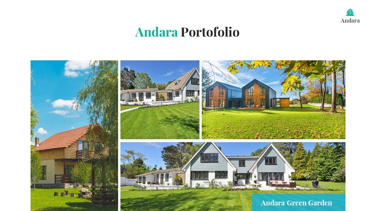 Andara - Real Estate Powerpoint Template, Slide 23, 05888, Text Boxes — PoweredTemplate.com