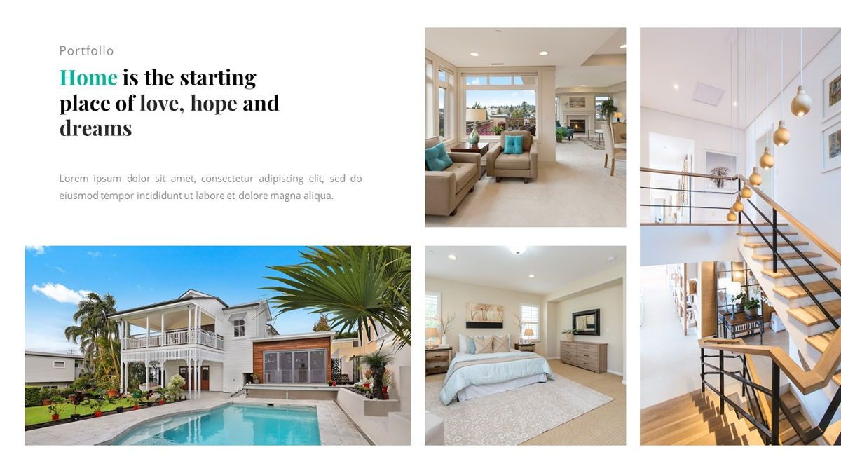 Andara - Real Estate Powerpoint Template, Slide 24, 05888, Text Boxes — PoweredTemplate.com