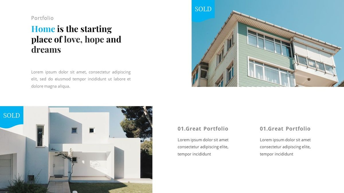 Andara - Real Estate Powerpoint Template, Slide 25, 05888, Text Boxes — PoweredTemplate.com