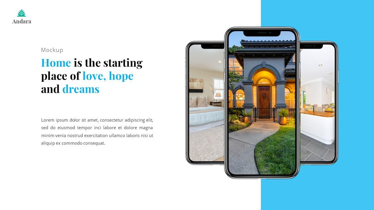 Andara - Real Estate Powerpoint Template, Slide 26, 05888, Text Boxes — PoweredTemplate.com