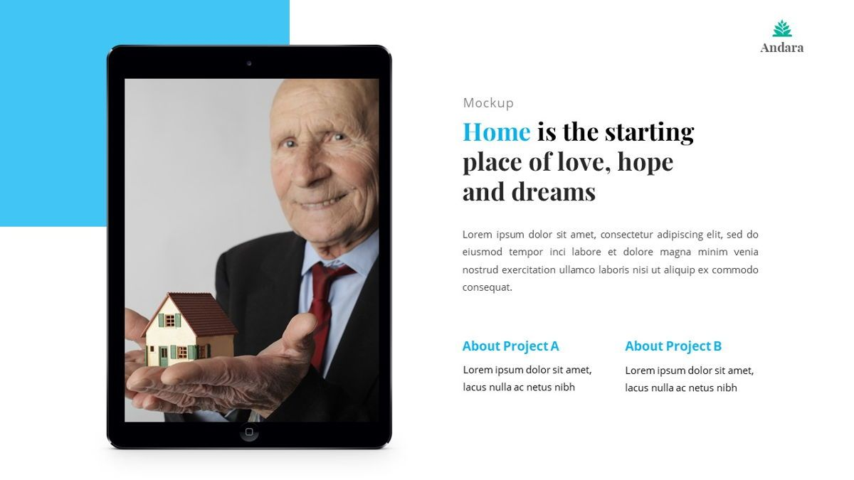 Andara - Real Estate Powerpoint Template, Slide 28, 05888, Text Boxes — PoweredTemplate.com
