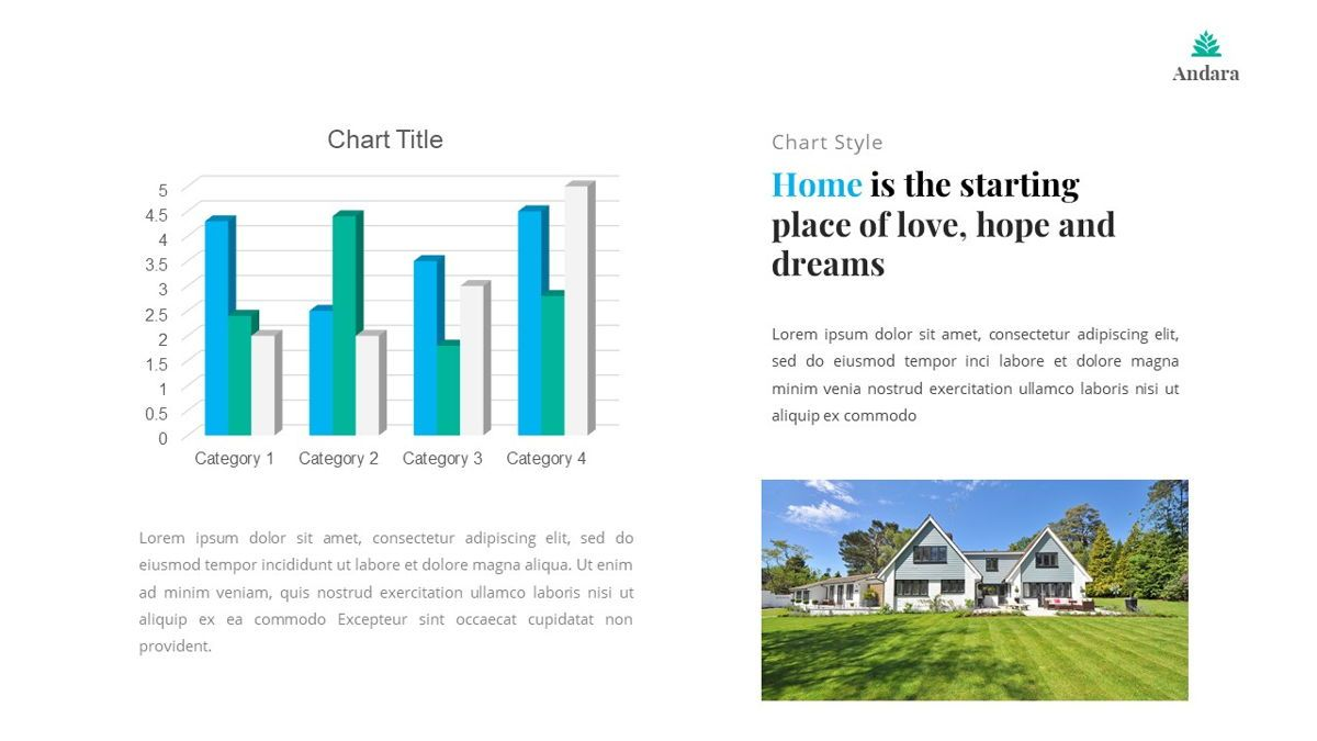 Andara - Real Estate Powerpoint Template, Slide 29, 05888, Text Boxes — PoweredTemplate.com