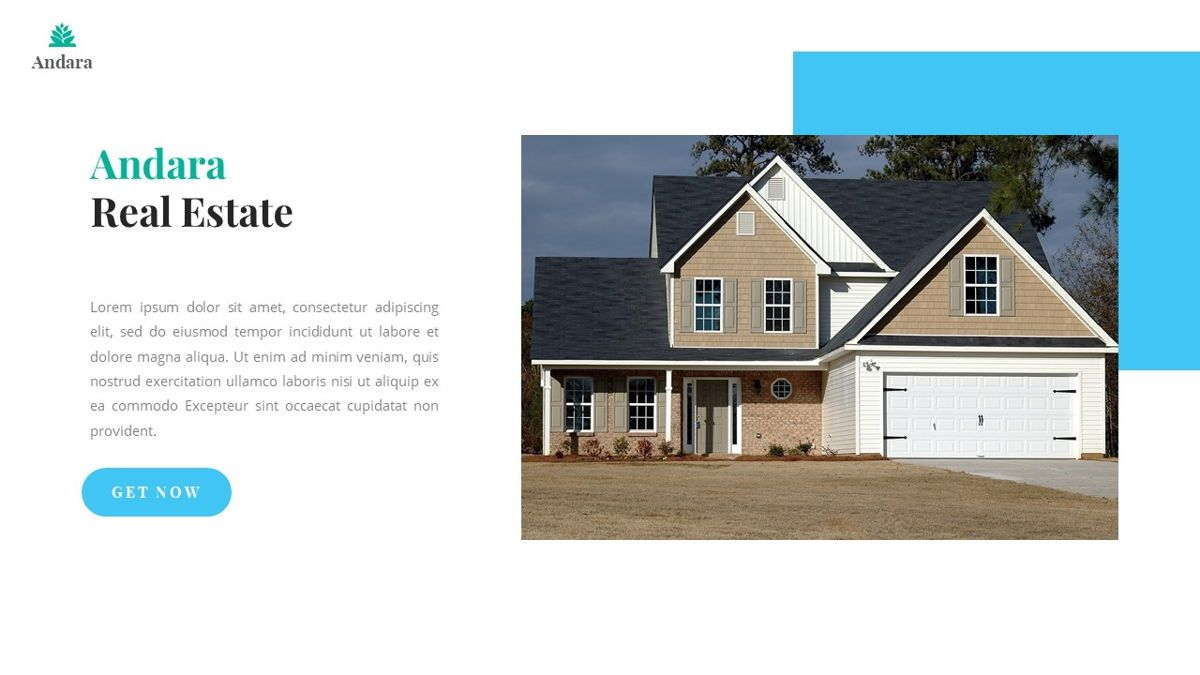 Andara - Real Estate Powerpoint Template, Slide 3, 05888, Text Boxes — PoweredTemplate.com