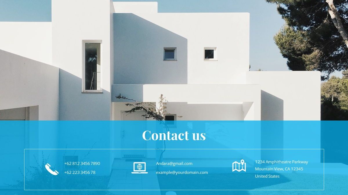 Andara - Real Estate Powerpoint Template, Slide 36, 05888, Text Boxes — PoweredTemplate.com