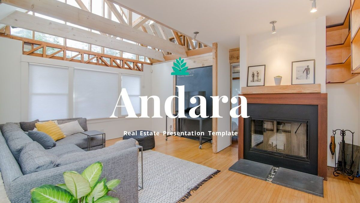 Andara - Real Estate Powerpoint Template, Slide 38, 05888, Text Boxes — PoweredTemplate.com