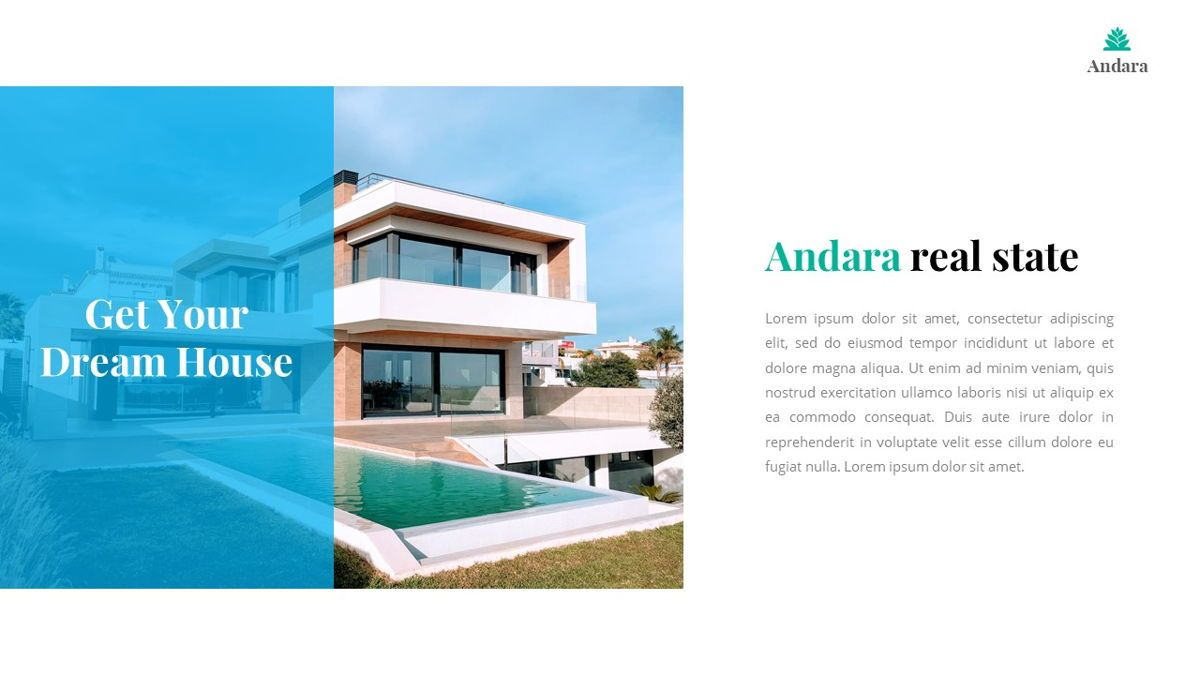 Andara - Real Estate Powerpoint Template, Slide 5, 05888, Text Boxes — PoweredTemplate.com