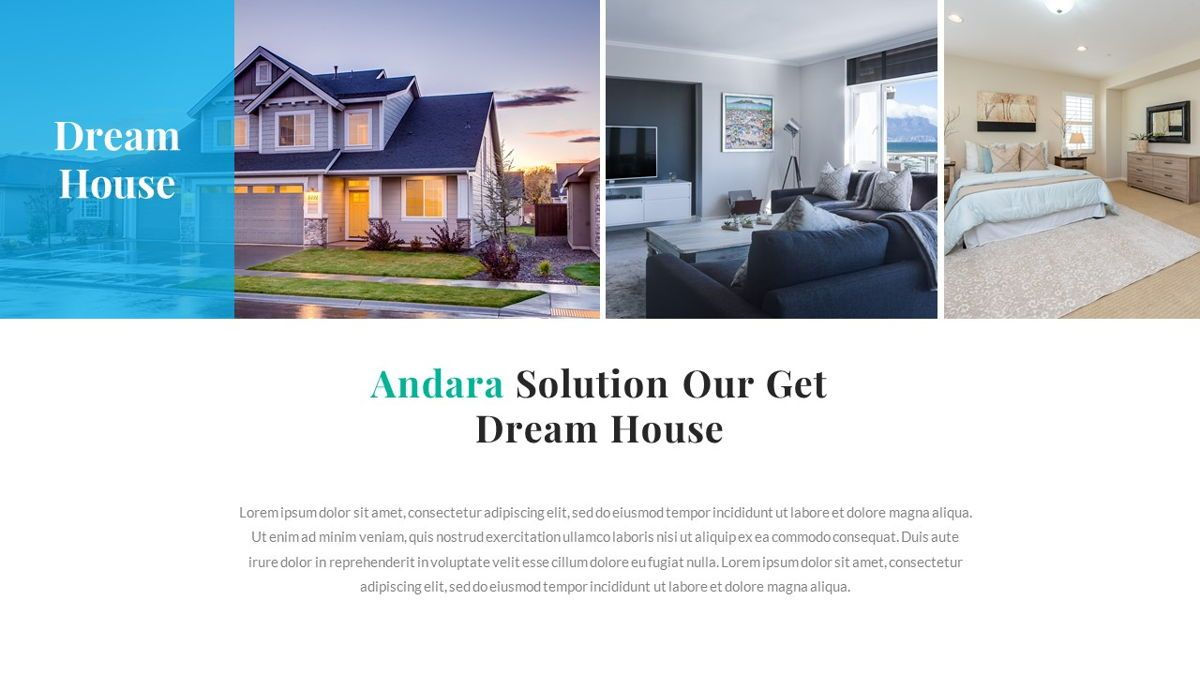 Andara - Real Estate Powerpoint Template, Slide 6, 05888, Text Boxes — PoweredTemplate.com