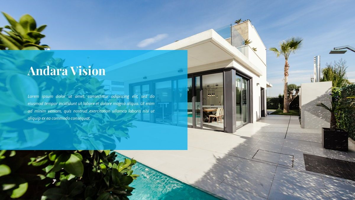 Andara - Real Estate Powerpoint Template, Slide 7, 05888, Text Boxes — PoweredTemplate.com