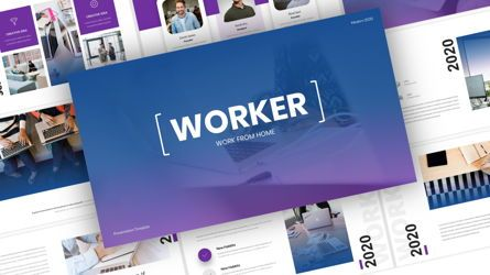 Business Models: Worker - Creative Business PowerPoint Template #05891