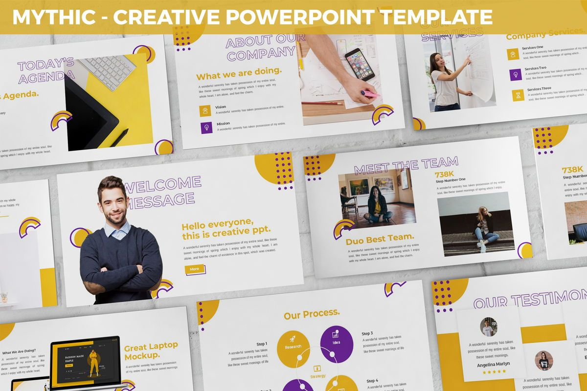 Mythic - Creative Powerpoint Template, 05892, Data Driven Diagrams and Charts — PoweredTemplate.com