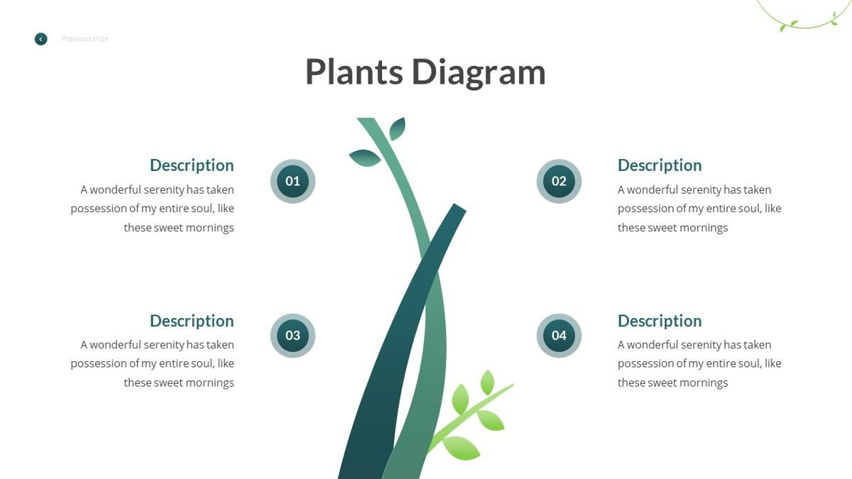 Anemoa - Nature Powerpoint Template, Slide 23, 05894, Icons — PoweredTemplate.com