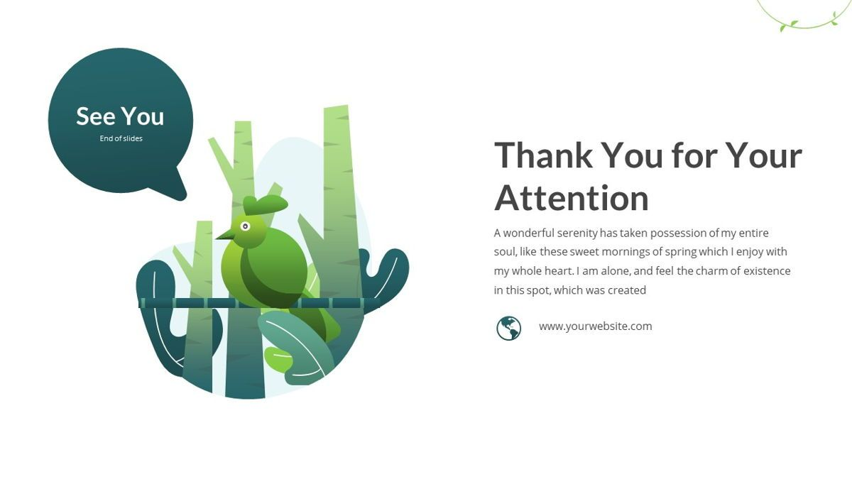 Anemoa - Nature Powerpoint Template, Slide 31, 05894, Icons — PoweredTemplate.com