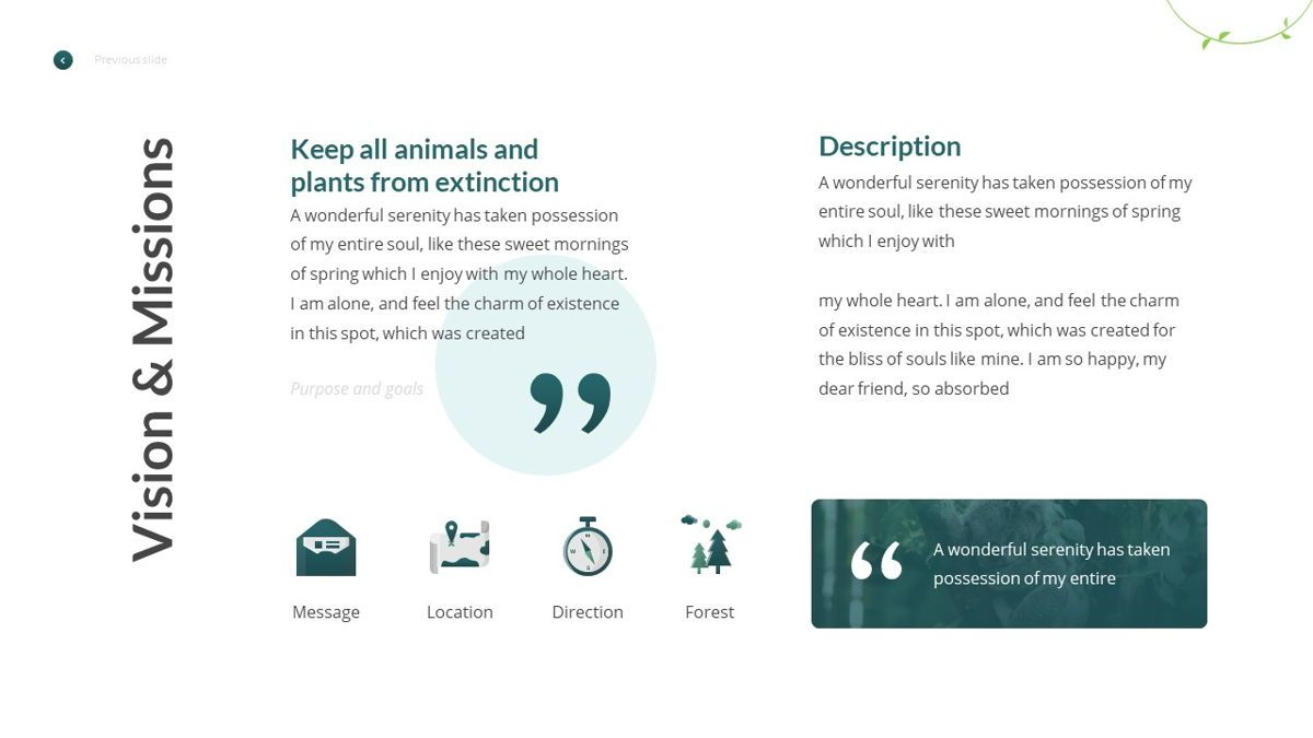 Anemoa - Nature Powerpoint Template, Slide 8, 05894, Icons — PoweredTemplate.com