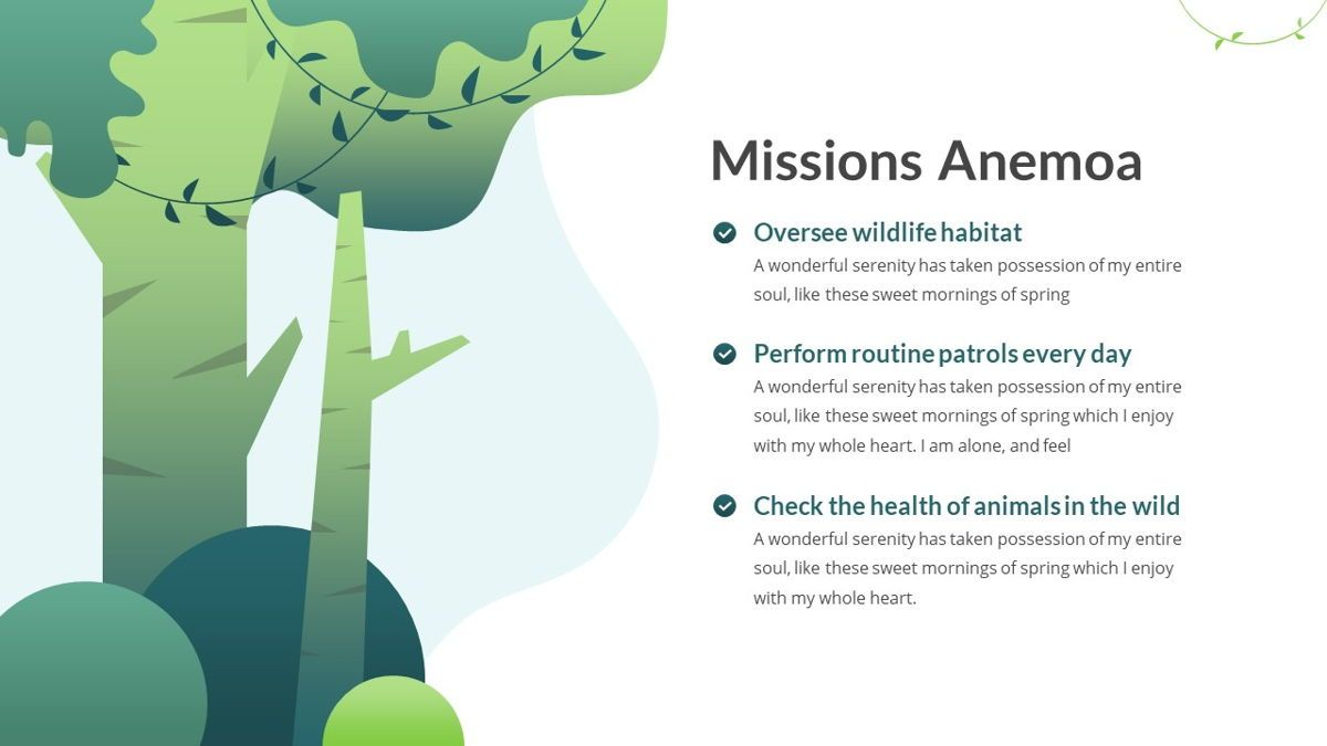 Anemoa - Nature Powerpoint Template, Slide 9, 05894, Icons — PoweredTemplate.com