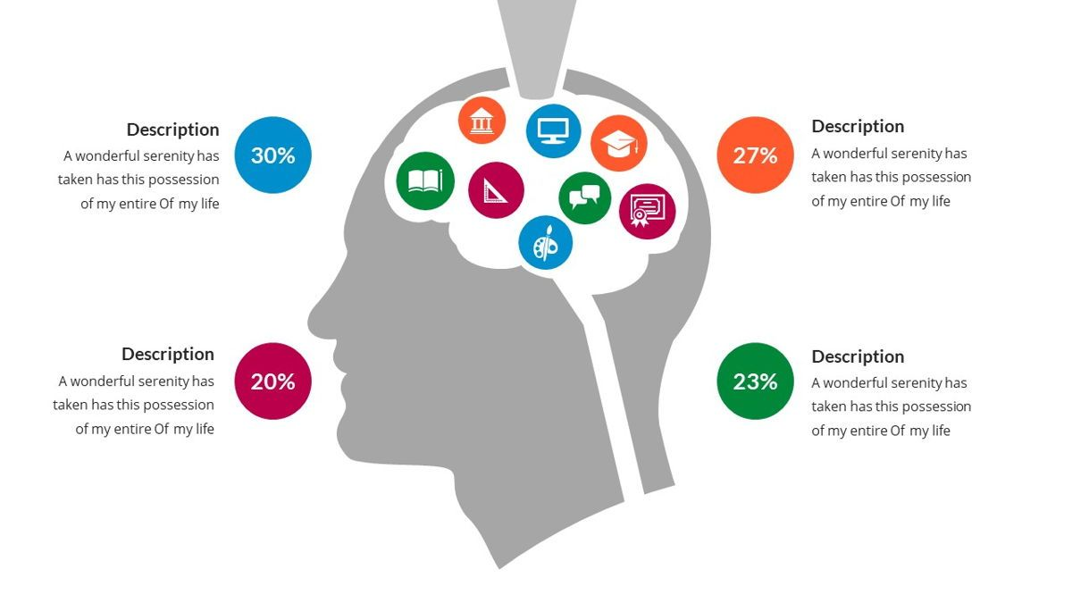 Brain Infographic for Powerpoint Template, Slide 13, 05895, Business Models — PoweredTemplate.com