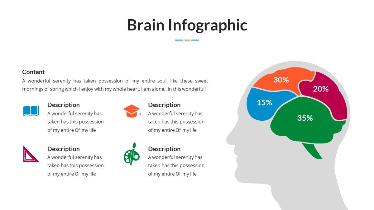 Brain Infographic for Powerpoint Template, Slide 14, 05895, Business Models — PoweredTemplate.com