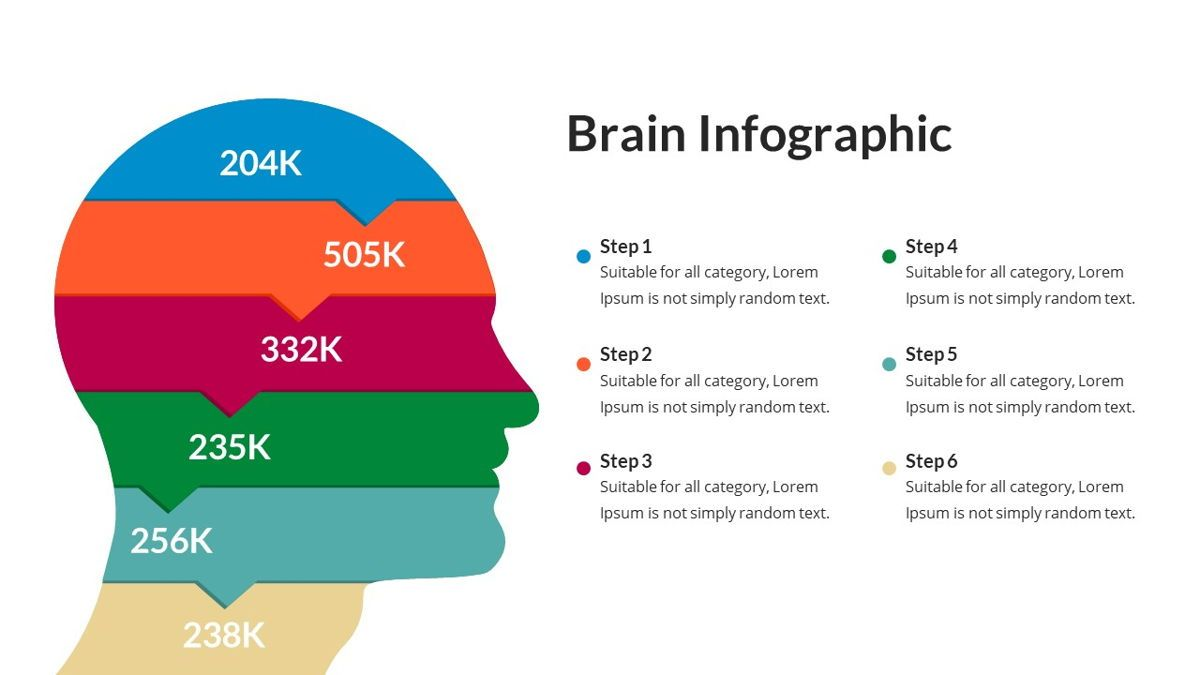 Brain Infographic for Powerpoint Template, Slide 18, 05895, Business Models — PoweredTemplate.com