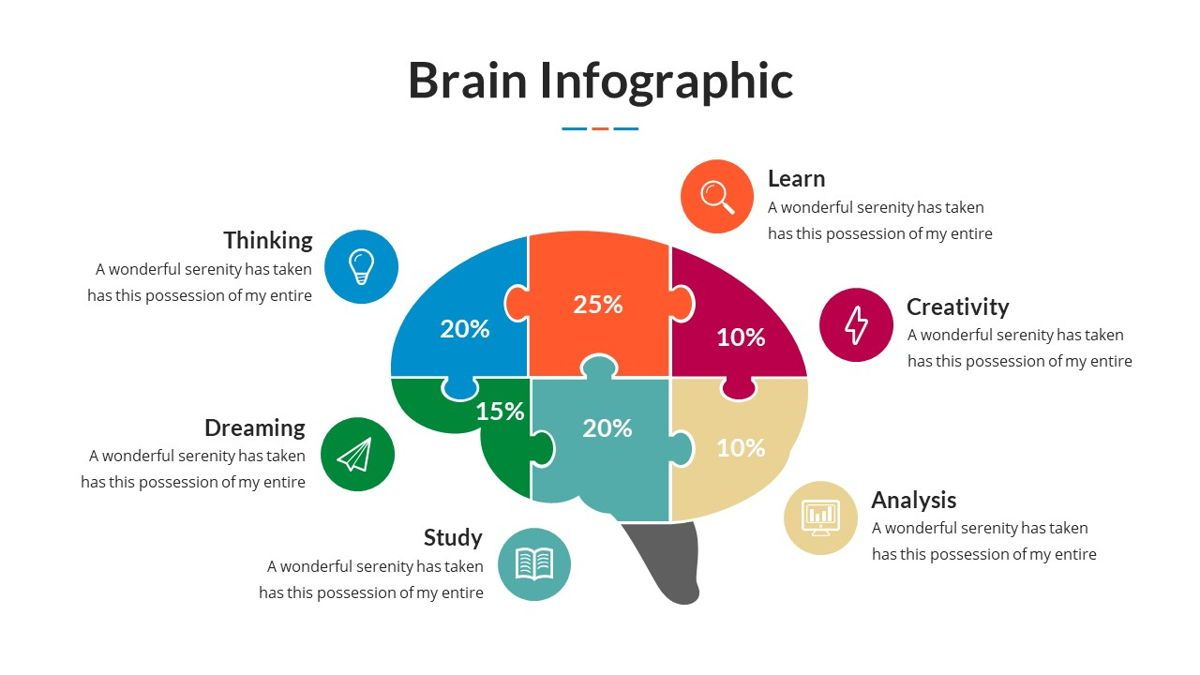 Brain Infographic for Powerpoint Template, Slide 19, 05895, Business Models — PoweredTemplate.com