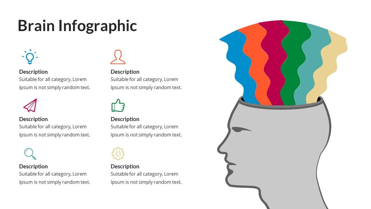 Brain Infographic for Powerpoint Template, Slide 23, 05895, Business Models — PoweredTemplate.com