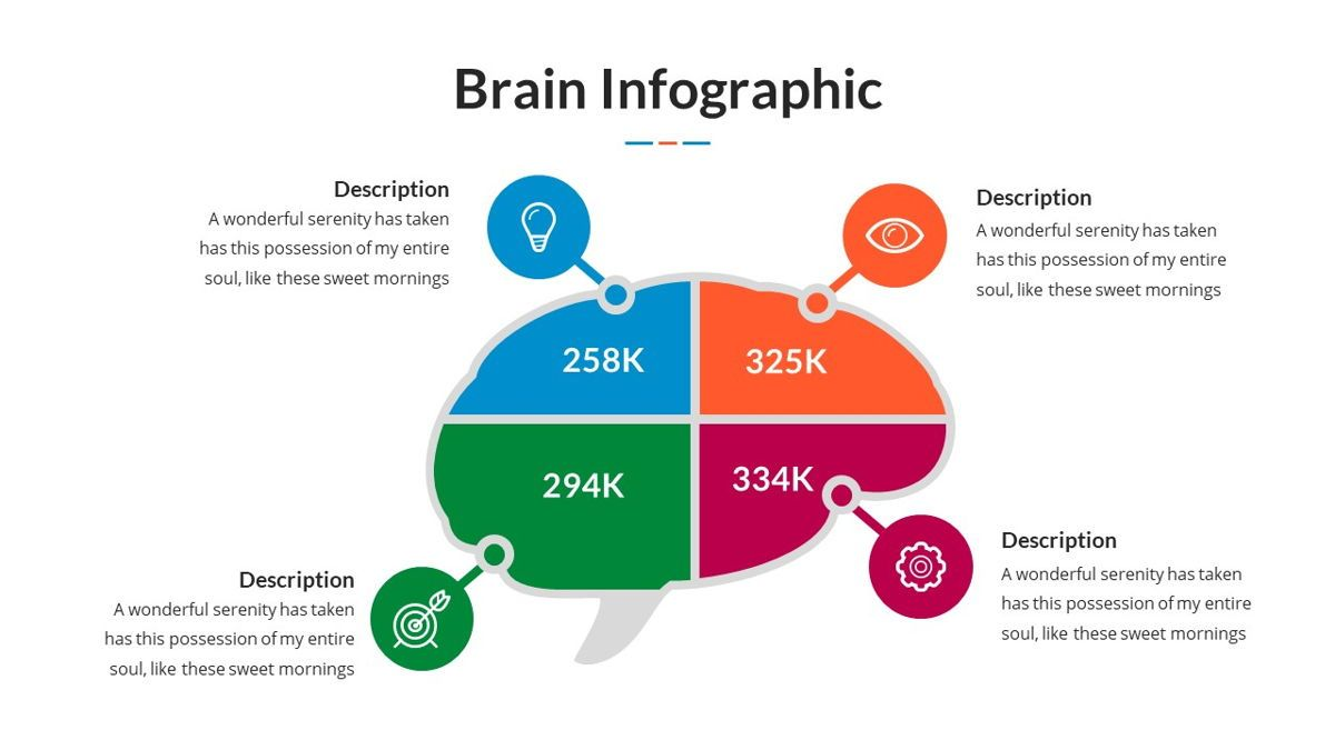 Brain Infographic for Powerpoint Template, Slide 25, 05895, Business Models — PoweredTemplate.com