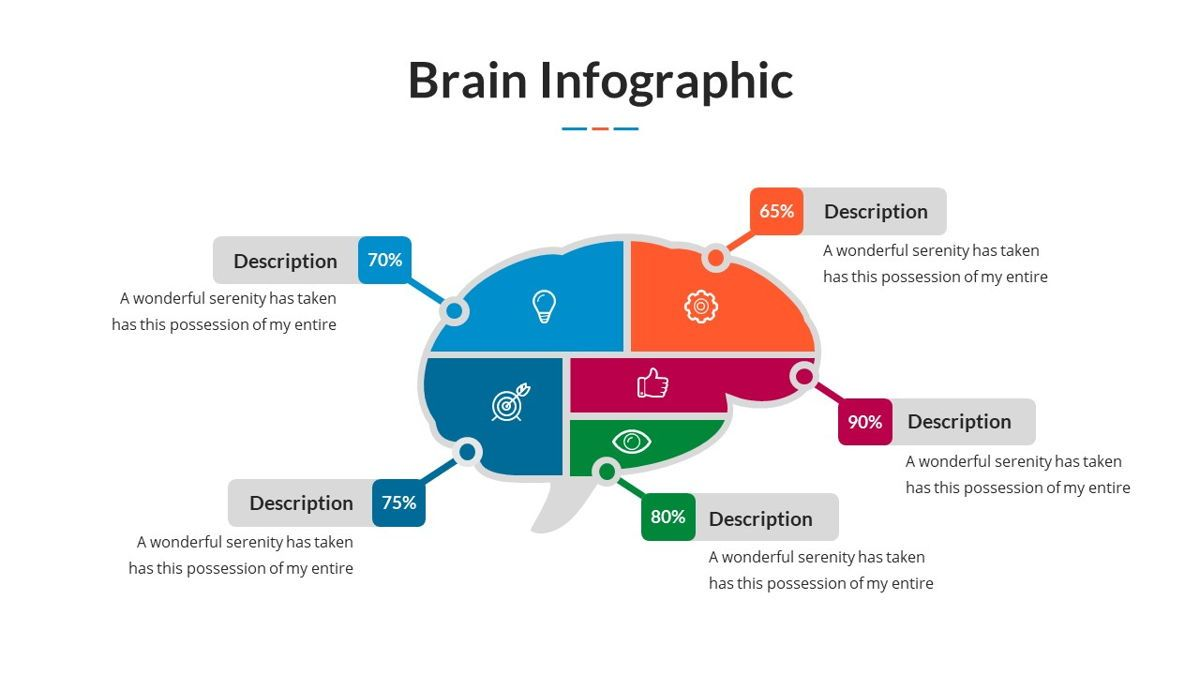 Brain Infographic for Powerpoint Template, Slide 26, 05895, Business Models — PoweredTemplate.com