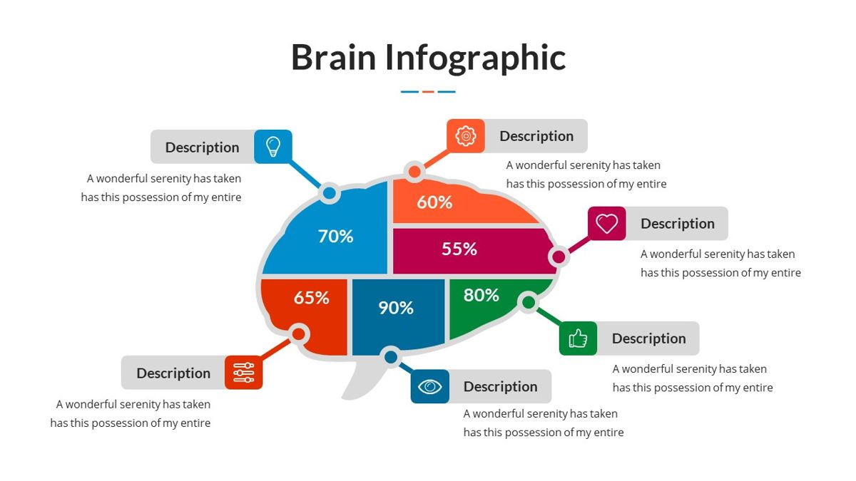 Brain Infographic for Powerpoint Template, Slide 27, 05895, Business Models — PoweredTemplate.com