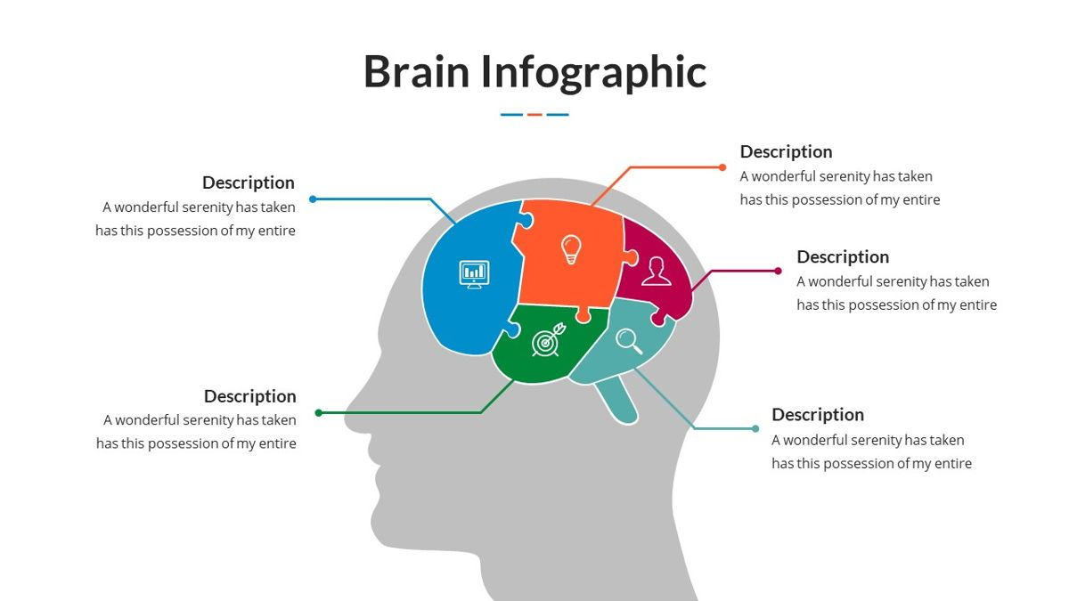 Brain Infographic for Powerpoint Template, Slide 3, 05895, Business Models — PoweredTemplate.com