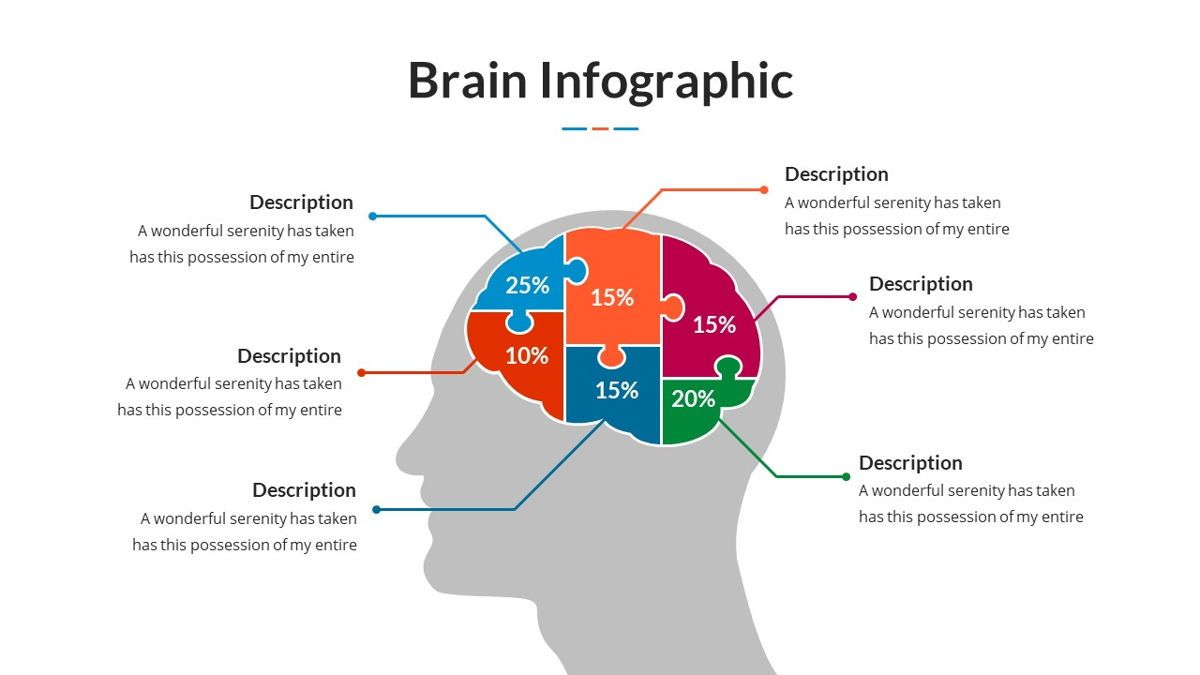 Brain Infographic for Powerpoint Template, Slide 4, 05895, Business Models — PoweredTemplate.com