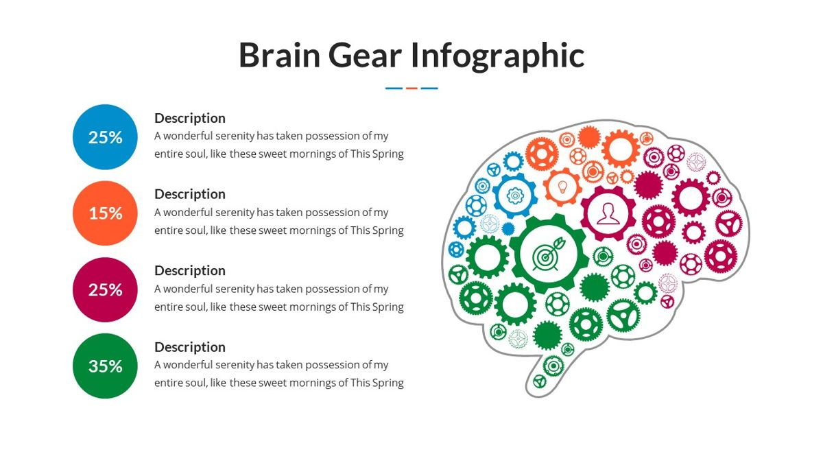 Brain Infographic for Powerpoint Template, Slide 8, 05895, Business Models — PoweredTemplate.com