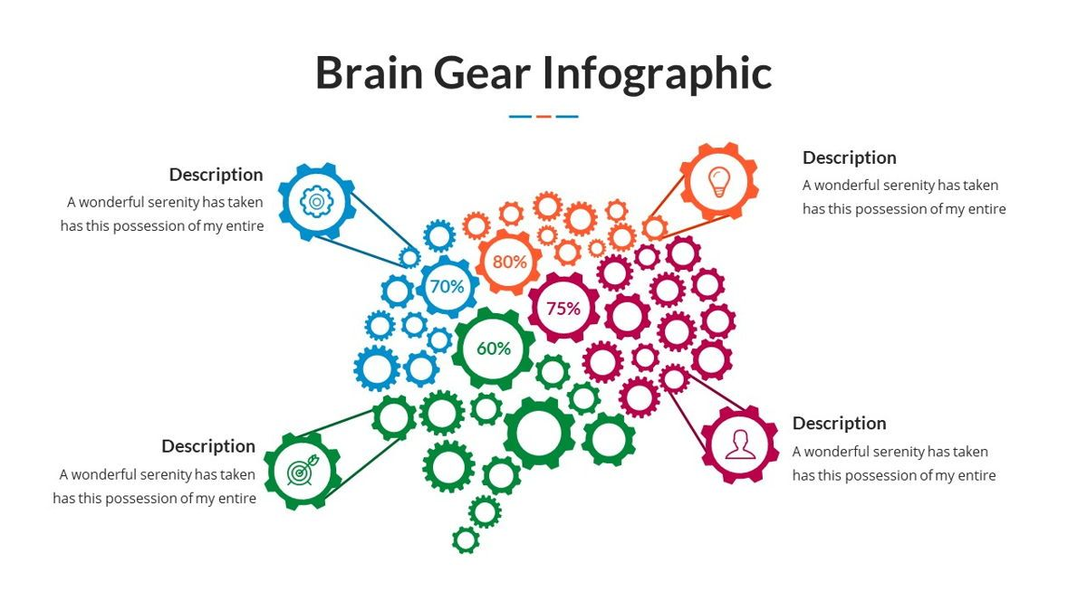 Brain Infographic for Powerpoint Template, Slide 9, 05895, Business Models — PoweredTemplate.com