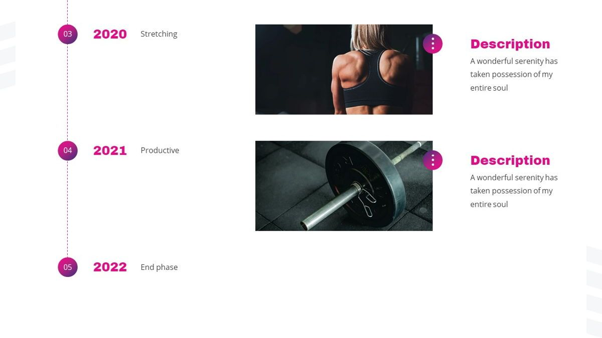 Stamin - Gym Fitness Powerpoint Template, Slide 10, 05896, Graph Charts — PoweredTemplate.com