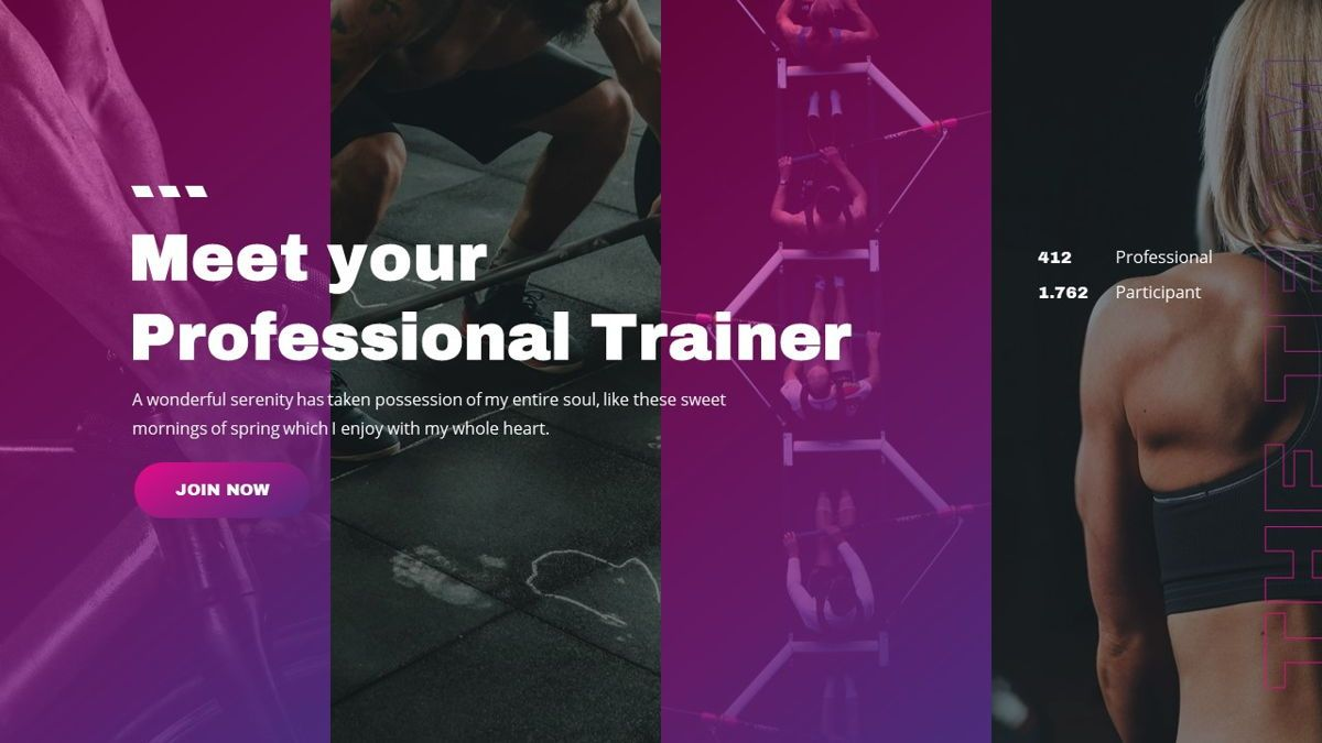 Stamin - Gym Fitness Powerpoint Template, Slide 14, 05896, Graph Charts — PoweredTemplate.com