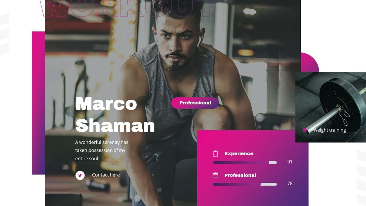 Stamin - Gym Fitness Powerpoint Template, Slide 17, 05896, Graph Charts — PoweredTemplate.com