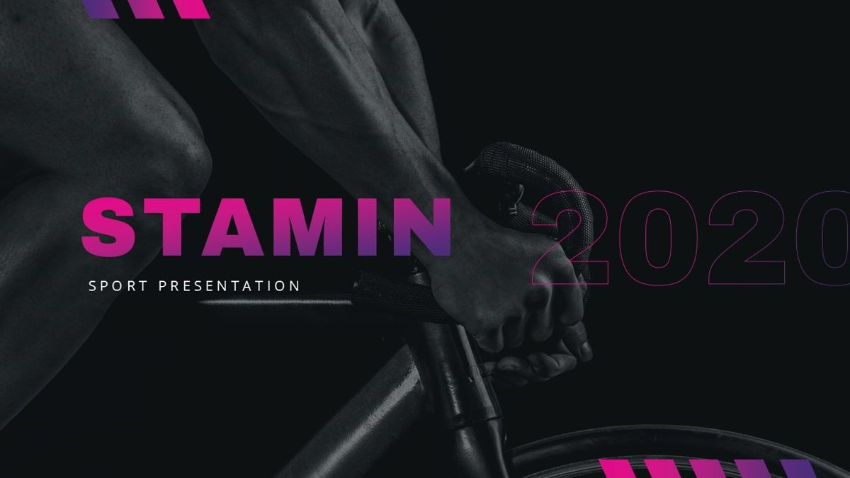 Stamin - Gym Fitness Powerpoint Template, Slide 2, 05896, Graph Charts — PoweredTemplate.com
