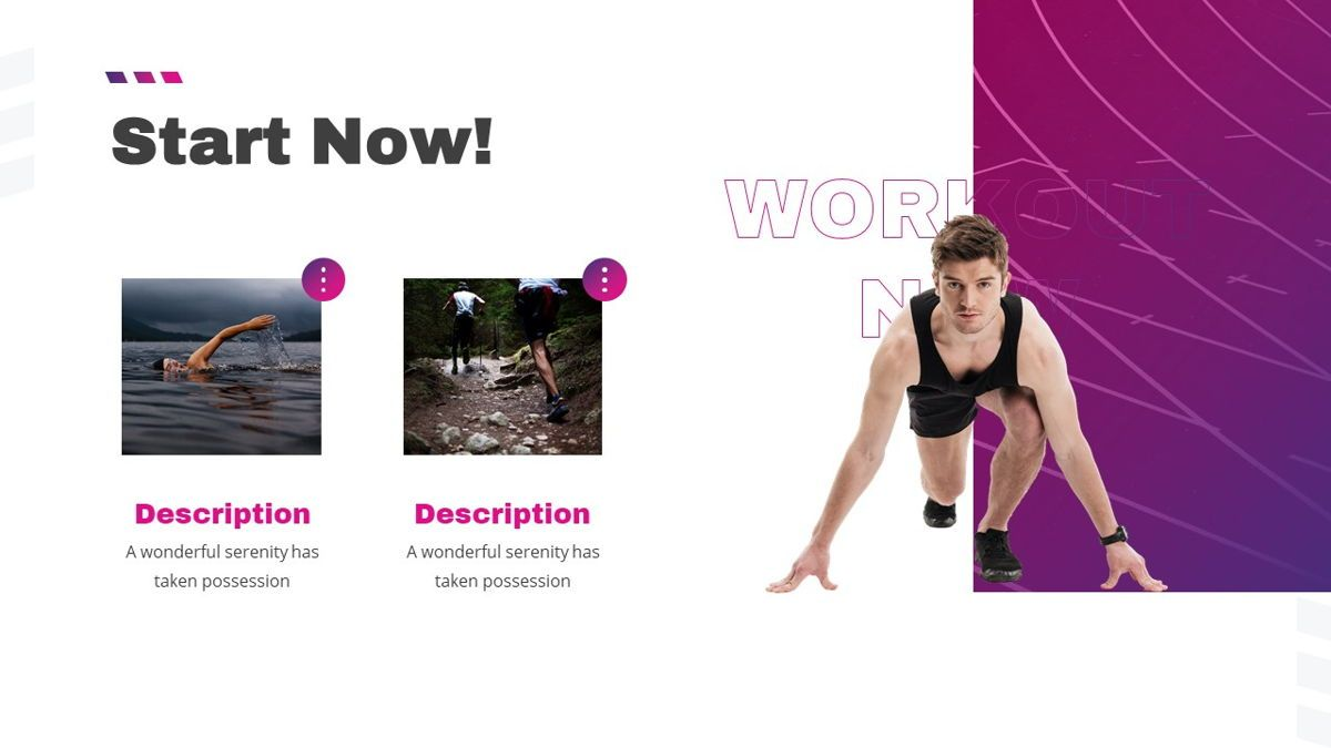 Stamin - Gym Fitness Powerpoint Template, Slide 20, 05896, Graph Charts — PoweredTemplate.com