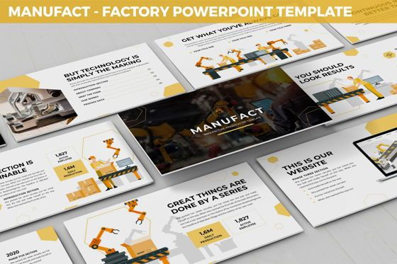Flow Charts: Manufact - Factory Powerpoint Template #05897