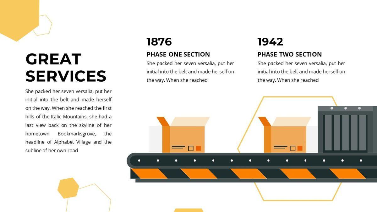Manufact - Factory Powerpoint Template, Slide 11, 05897, Flow Charts — PoweredTemplate.com