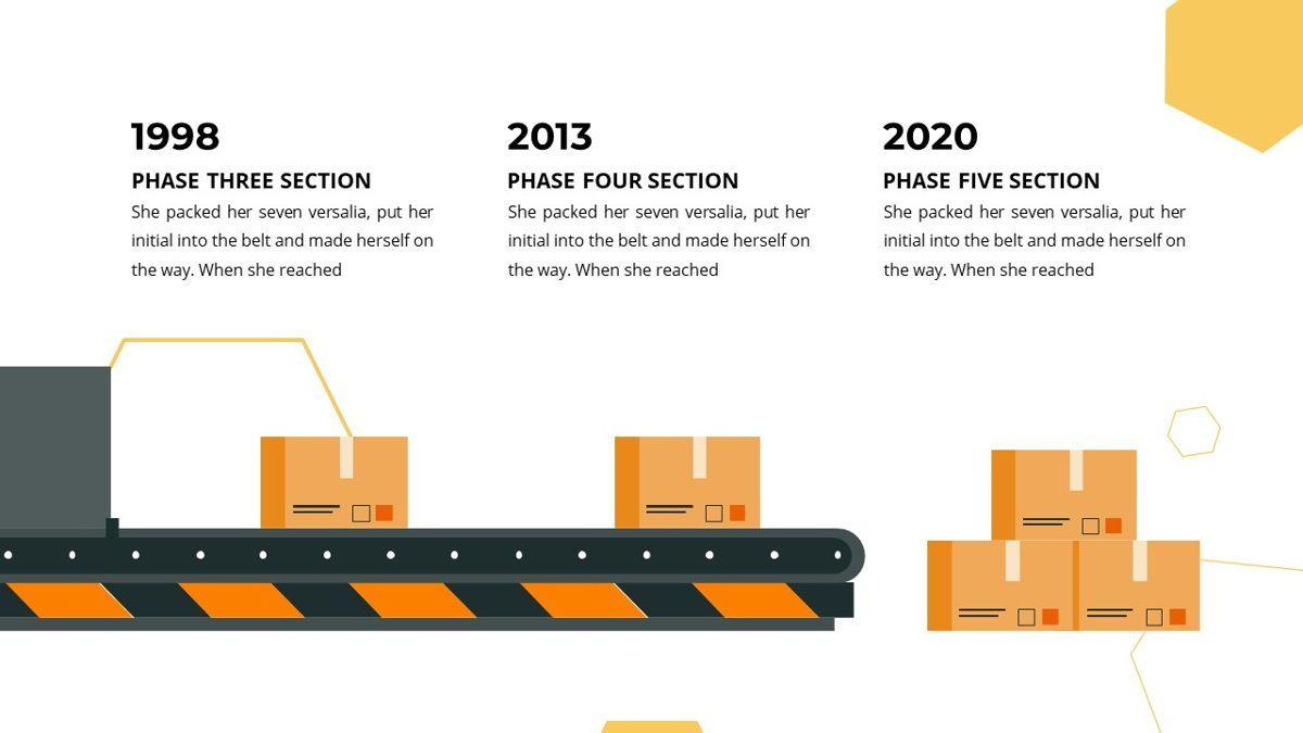 Manufact - Factory Powerpoint Template, Slide 12, 05897, Flow Charts — PoweredTemplate.com
