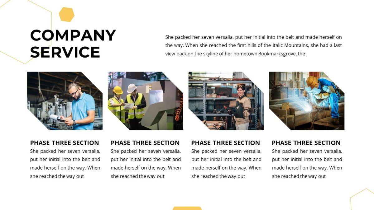 Manufact - Factory Powerpoint Template, Slide 13, 05897, Flow Charts — PoweredTemplate.com