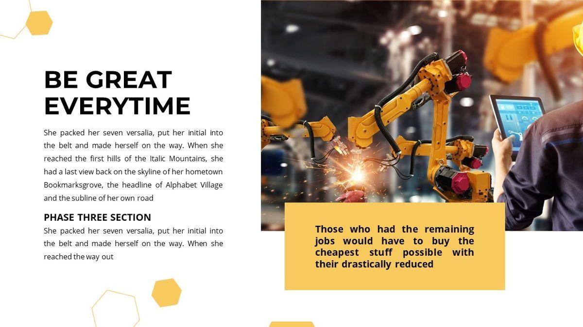 Manufact - Factory Powerpoint Template, Slide 21, 05897, Flow Charts — PoweredTemplate.com