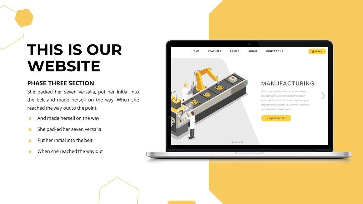 Manufact - Factory Powerpoint Template, Slide 22, 05897, Flow Charts — PoweredTemplate.com