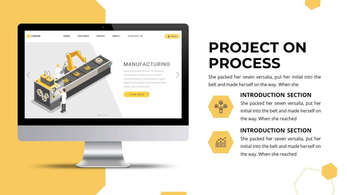 Manufact - Factory Powerpoint Template, Slide 23, 05897, Flow Charts — PoweredTemplate.com
