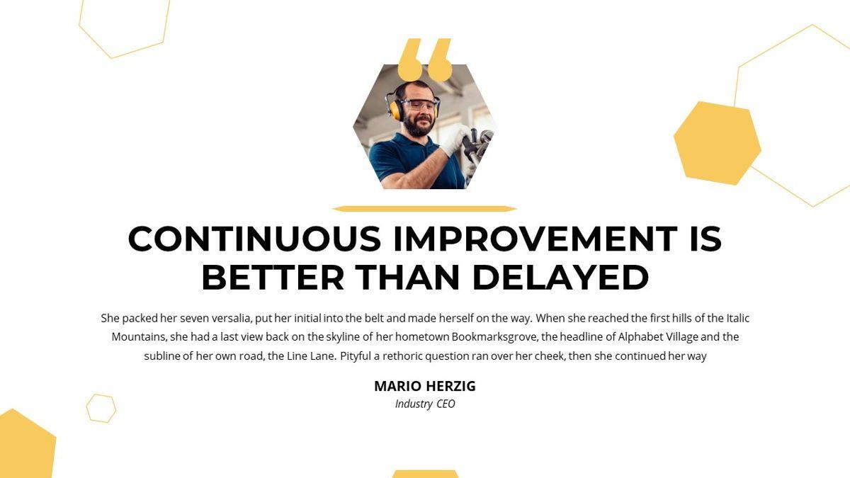 Manufact - Factory Powerpoint Template, Slide 5, 05897, Flow Charts — PoweredTemplate.com