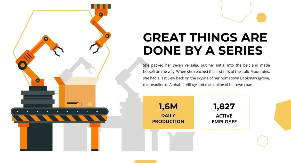 Manufact - Factory Powerpoint Template, Slide 8, 05897, Flow Charts — PoweredTemplate.com