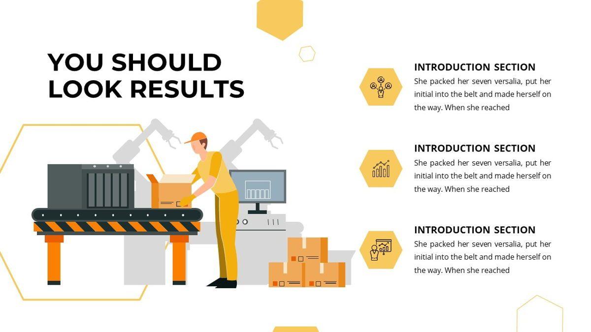 Manufact - Factory Powerpoint Template, Slide 9, 05897, Flow Charts — PoweredTemplate.com
