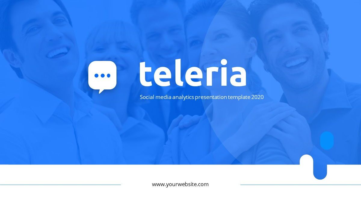 Teleria - Social Media Powerpoint Template, Slide 2, 05898, Data Driven Diagrams and Charts — PoweredTemplate.com