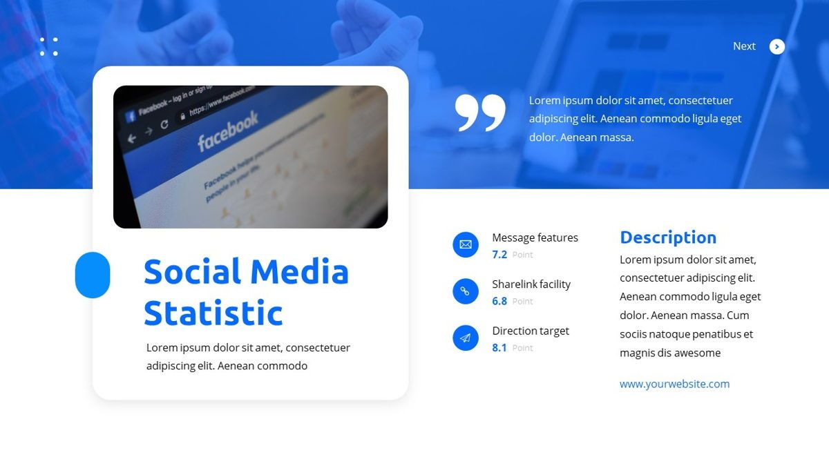 Teleria - Social Media Powerpoint Template, Slide 21, 05898, Data Driven Diagrams and Charts — PoweredTemplate.com