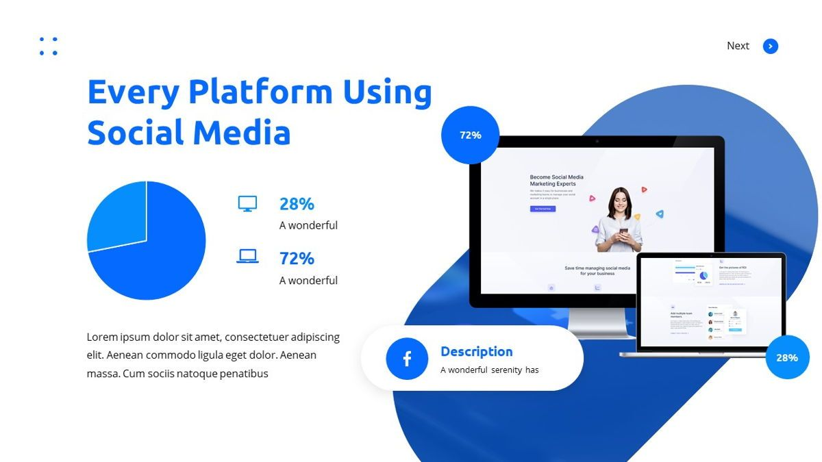 Teleria - Social Media Powerpoint Template, Slide 23, 05898, Data Driven Diagrams and Charts — PoweredTemplate.com