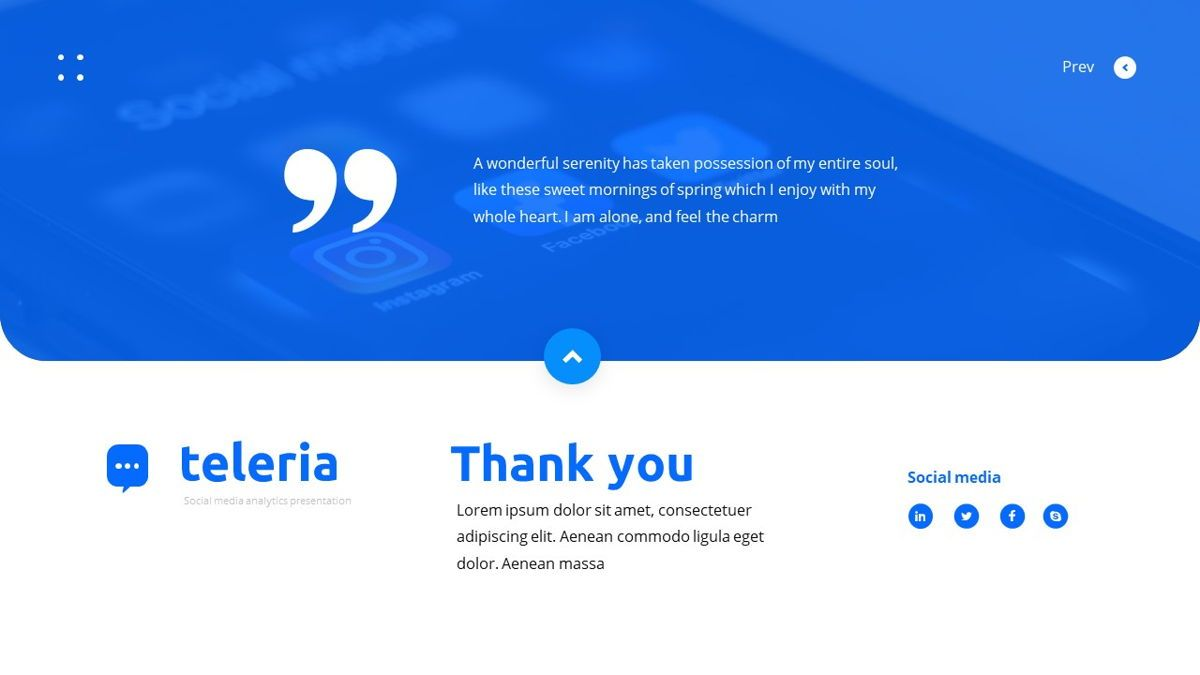 Teleria - Social Media Powerpoint Template, Slide 31, 05898, Data Driven Diagrams and Charts — PoweredTemplate.com