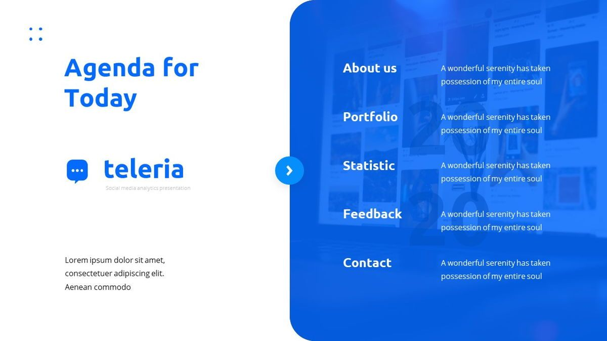 Teleria - Social Media Powerpoint Template, Slide 4, 05898, Data Driven Diagrams and Charts — PoweredTemplate.com